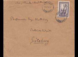 Finnland: 1946: Brief Ekenäs nach Schweden