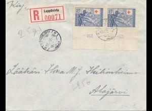 Finnland: 1946: Brief Einschreiben nach Alajarvi