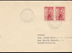 Finnland: 1956: Brief Maalaisliitto nach Portugal
