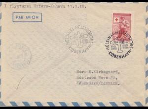 Finnland: 1948: Flugpost nach Kopenhagen