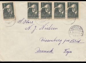 Finnland: 1955: Hangelby nach Dänemark