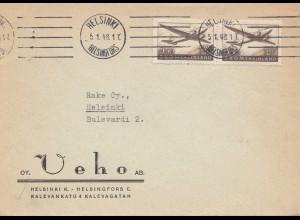 Finnland: 1948: Helsinki Ortsbrief