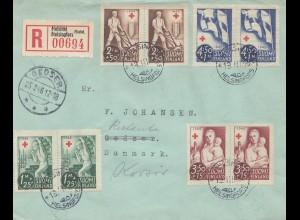 Finnland: 1946: Helsinki Einschreiben nach Dänemark