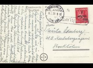 Finnland: 1936 Ansichtskarte Helsinki nach Schweden