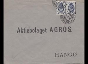 Finnland: 1894: Brief nach Hangö
