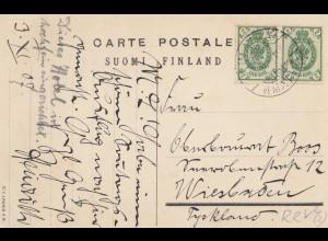 Finnland: 1911: Ansichtskarte Imatra nach Deutschland