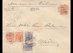 Finnland: 1900: Ganzsache Helsinki -WARDE-