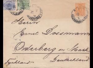 Finnland: 1892: Helsinki nach Deutschland