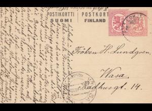 Finnland: 1918: Ganzsache nach Wasa