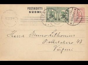Finnland: 1920: Ganzsache Niva