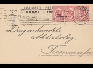 Finnland: 1920: Ganzsache Abo Tampere