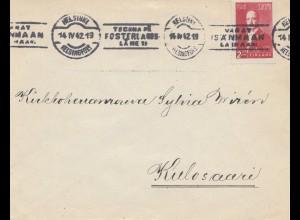 Finnland: 1942: Brief von Helsinki nach Kulosaari