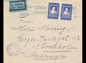 Finnland: 1942: Luftpost nach Stockholm