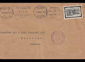 Finnland: 1941 Brief von Helsinki nach Dänemark: Zensur