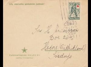 Finnland: 1940: Brief von Helsinki nach Schweden - Esperantoseura