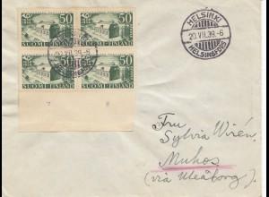 Finnland: 1939: Brief von Helsinki
