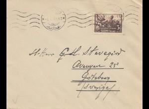 Finnland: 1938: Brief nach Schweden