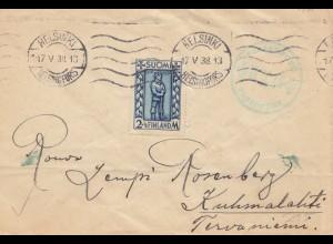Finnland: 1938: Brief von Helsinki