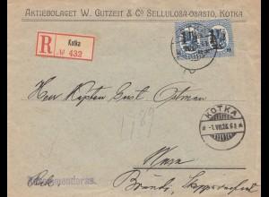 Finnland: 1926: Einschreiben Kotka nach Wasa