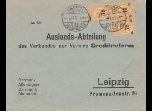 Finnland: 1921: Helsinki Creditreform: Auslandsabteilung Leipzig