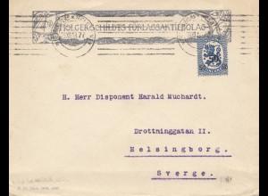 Finnland: 1919: Brief nach Schweden