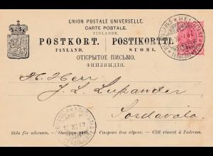 Finnland: 1897: Ganzsache Helsinki