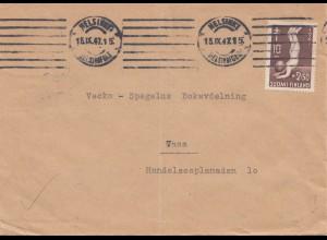 Finnland: 1947: Brief von Helsinki nach Vasa