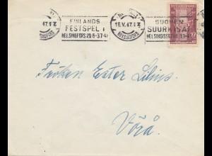 Finnland: 1947: Brief Festspel Helsinki