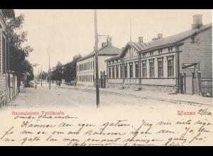 Finnland: 1901: Ansichtskarte Suomalinen Tyttökoulu/Waasa