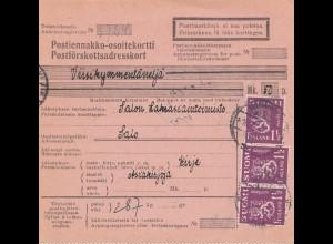 1931: Paketkarte nach Salo