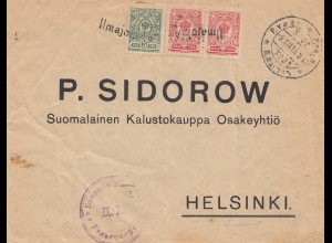 Finnland: 1915: Brief nach Helsinki