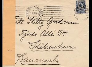 Finnland: 1916: Brief von Helsinki nach Dänemark: Zensur