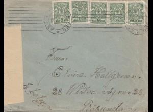 Finnland: 1915: Brief nach Rasunda - Zensur