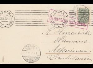 Finnland: 1914 Glückwunschkarte von Turku