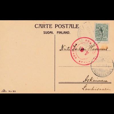 Finnland: 1914 Glückwunschkarte nach Askainen