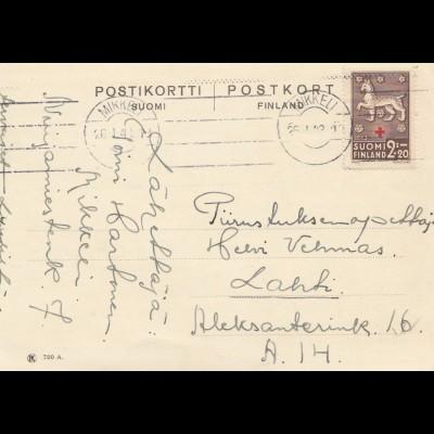Finnland: 1943. Postkarte von Mikkeli