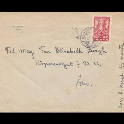Finnland: 1942 Brief nach Abo
