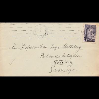 Finnland: 1946: Brief nach Schweden