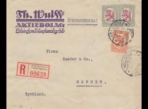 Finnland: 1928: Einschreiben von Helsinki nach Erfurt