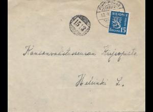 Finnland: Brief von Pithipudas nach Helsinki