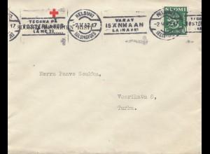 Finnland: 1942: Helsinki Rotes Kreuz nach Turku