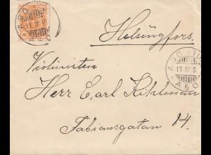 Finnland: 1890: Brief von Abo nach Helsinki