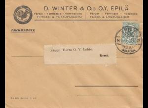 Finnland: 1928: Brief von Epilä nach Kemi