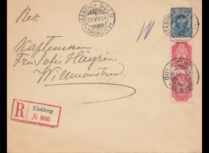 Finnland: 1904: Einschreiben Uleaborg