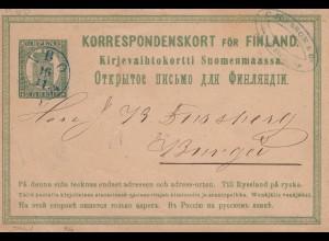 Finnland: 1874: Ganzsache von Abo