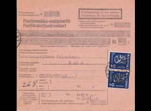 Finnland: 1931: Paketkarte nach Salo