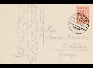 Finnland: 1927: Ansichtskarte Matra nach Schweden