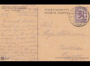 Finnland: 1923: Ansichtskarte Helsinki