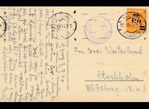 Finnland: 1940: Ansichtskarte Nädendal nach Schweden