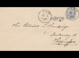 Finnland: 1904: Brief /Ganzsache U24 aus Abo nach Helsinki